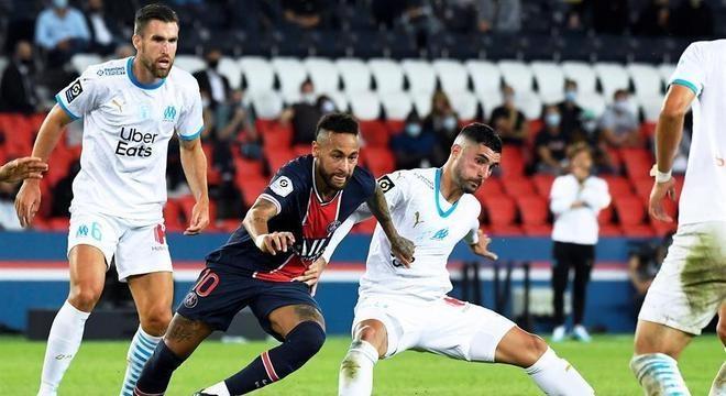 Neymar e defensor do Olympique de Marselha se envolveram em confusão